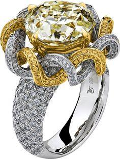 Trendy Diamond Rings : Lili Jewelry Meteor Cut diamond ring, - Buy Me Diamond High Jewelry, Jewelry Rings, Jewelry Accessories, Jewelry Design, Unique Jewelry, Bridal Accessories, Wedding Jewelry, Jewlery, Love Ring