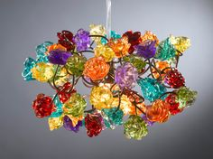 Ceiling light fixture Rainbow color roses
