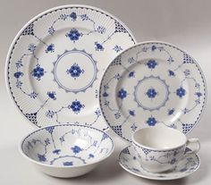 Denmark Blue dishes. This is one of the first sets of dishes I bought for myself and I still love them!