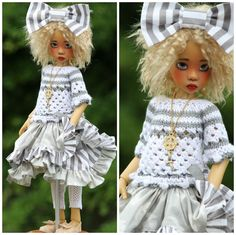 SUMMER OUTFIT FOR MSD KAYE WIGGS DOLLS OR DOLLSTOWN DEOGI DT7 BY BARBARA