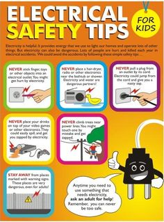 Safety Tips For Kids by Schaffhouser Electric Co. is helpful, but it can also be harmful to children. Safety Tips For Kids by Schaffhouser Electric Co. is helpful, but it can also be harmful to children. Fire Safety Poster, Health And Safety Poster, Fire Safety Tips, Safety Posters, Safety Rules For Kids, Home Safety, Child Safety, Safety Week, Family Safety