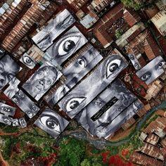 Brazilian favelas by JR
