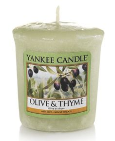 Olive et thym - Bougie votive - Yankee Candle