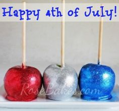 4th July Coloured Candy Apples
