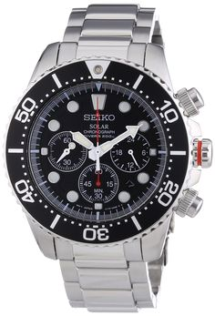 Amazon.com: Seiko Men's SSC015P1 Chronograph Solar Power Black Dial Watch