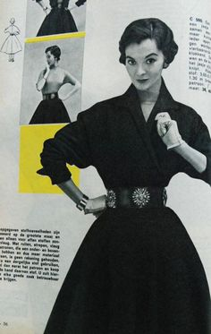 It looks like a dress but it's kind of a suit: full skirt and waist-length jacket. Libelle 1956