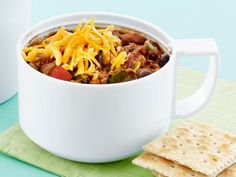 Guy's son Ryder loves this flavor-packed Turkey Chili; Guy loves it because it's also protein-packed and great for next-day school lunches.
