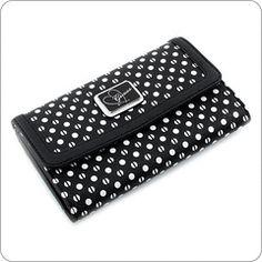 Guess Wallet Elara Purse Wallet, Rockabilly, Designer, Purses And Bags, Zip Around Wallet, My Love, Wallets, Black, Bags