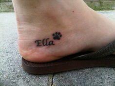 pawprint tattoo ideas | Small Dog Paw Print Tattoo - like location and size ... | Tattoo Ideas