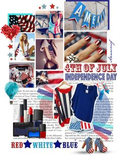 """""""4th July"""" by annacrisf ❤ liked on Polyvore"""