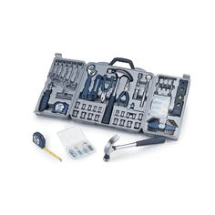 The Professional Tool Kit is a deluxe tool set that has everything you need for jobs around the home or the garage.  Makes a great gift for those who like to do their own handyman work around the house.   It includes a 22-piece ratchet set (including a spark plug socket and extension bar) - 6 assorted wrenches - 1 claw hammer - 1 bit driver - 10-piece insert bit set - 4-piece set of precision screwdrivers and much more.   $88.95