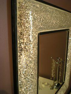 Bling cheval floor mirror beauty room pinterest mirror diy mirror and decor for Shattered mirror bathroom floor