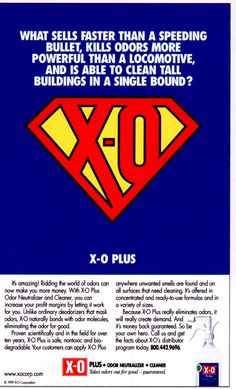 Save the day by safely and effectively removing odors with X-O Odor Neutralizer! For details about X-O's non-toxic, plant-based odor eliminating and cleaning products, be sure to click on the image above. http://xocorp.com/x-o-odor-neutralizer-plus-is-super/ #odor #AirFreshner #AllNatural #OdorNeutralizer #cleaning