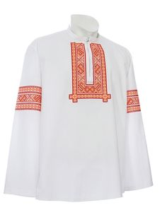Slovenské kroje    Mužská vyšívaná košeľa LADISLAV Studio, Long Sleeve, Sleeves, Mens Tops, T Shirt, Women, Fashion, Supreme T Shirt, Moda
