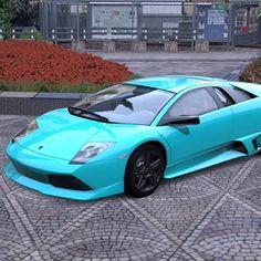 Turquoise Lamborghini Murcielago  yes