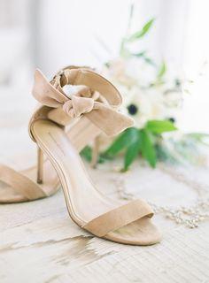 Suede ankle strap bow heels: Photography: Kara Miller - http://karamillerphoto.com/