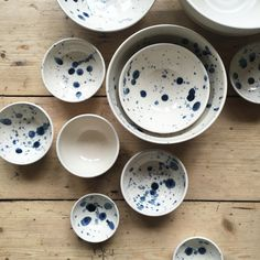 Speckled Pottery Bowls by Illyria Pottery, Oxford England.