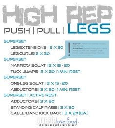 High Rep Leg Day