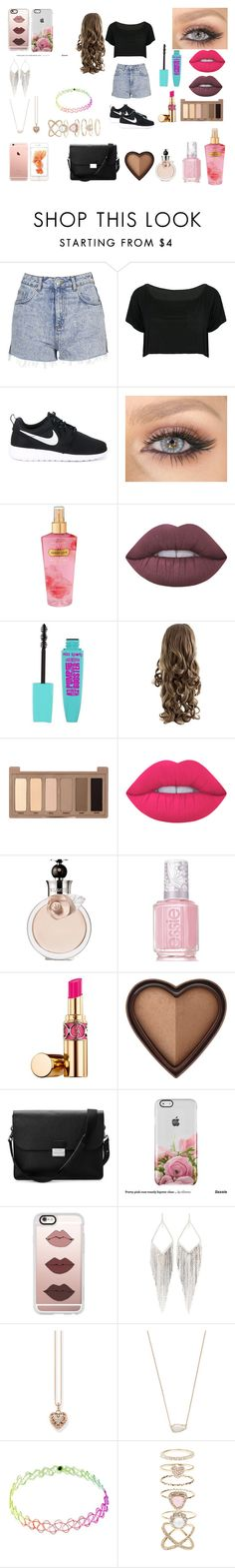 """""""Summer"""" by xxecmxx on Polyvore featuring mode, Topshop, WithChic, NIKE, Victoria's Secret, Lime Crime, Urban Decay, Valentino, Essie en Yves Saint Laurent"""