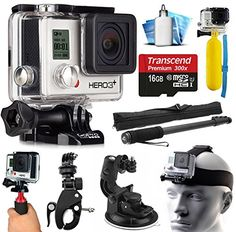 GoPro HERO3+ Hero 3+ Silver Plus Edition Action Camera Camcorder with Extreme Action Sport Accessory Package includes 16GB MicroSD Card + Selfie Stick Portrait Monopod + Bike Handlebar Mount + Car Windshield Suction Cup + Head Helmet Strap + Floating Float Hand Grip Bobber + Mini Tripod + Dust Cleaning Care Kit (CHDHN-302)  http://www.lookatcamera.com/gopro-hero3-hero-3-silver-plus-edition-action-camera-camcorder-with-extreme-action-sport-accessory-package-includes-16gb-microsd-card-..
