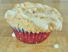 Strawberry & Cream Cheese Coffee Cake Cupcakes