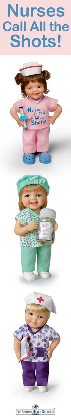 Let each compassionate cutie from this nurse child doll collection share their feel-good remedy with you!