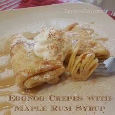 Holiday Eggnog Crepes