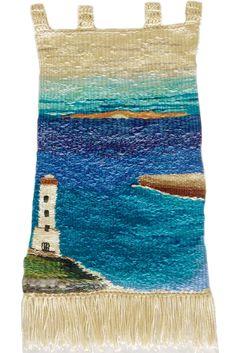 Telar Mural Marina Tapestry Weaving, Loom Weaving, Wet Felting, Needle Felting, Textiles, Rug Hooking, Textile Art, Couture, Fiber Art