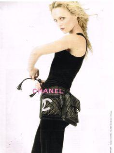 Publicité Advertising 2005 Haute couture sac à main Chanel avec Vanessa Paradis