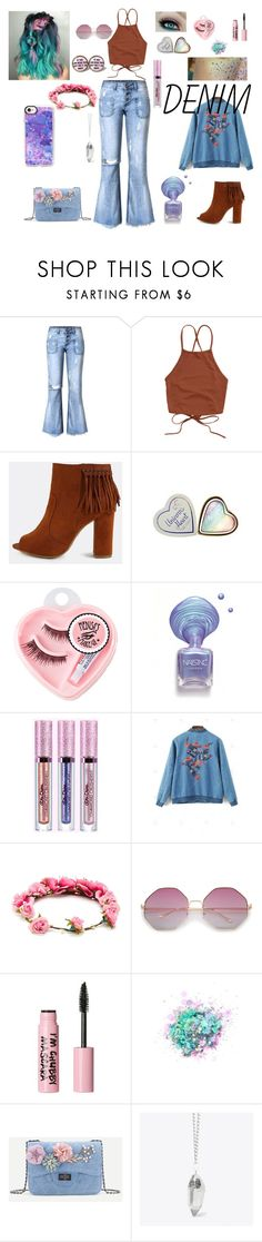 """""""Untitled #318"""" by ravyn-bvb ❤ liked on Polyvore featuring Medusa's Makeup, Forever 21, 3 Concept Eyes, The Gypsy Shrine, Crystal and Sage, JUST DON and Casetify"""
