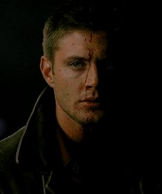 Bloody, angsty DemonDean GIF by unknown artist - We Love Demon!Dean