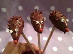 Süße Igel Cake Pops
