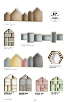 house shaped wall shelves