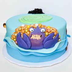 moana themed cake - back with tamatoa