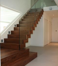 walnut staircase central spine - Google Search