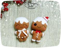 Adornos navideños fieltro pan de jengibre hombre adornos