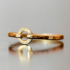 I wear this ring almost every day. Love it. Gold or Silver Circle Ring from Lexi Lu Jewelry