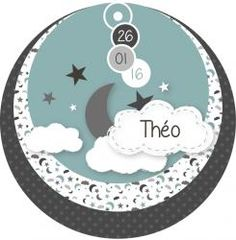 Faire-part naissance rond nuage ange plume vert Baby Scrapbook, Scrapbook Cards, Baby Kind, Baby Love, Silhouette Curio, Star Background, New Baby Cards, Album Design, Punch Art