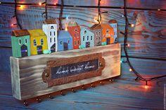 ключница с домиками  ключница купить в москве  ключница ручной работы  подарок на новый год  подарок на любой случай