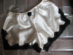 White Silk Tap Pants