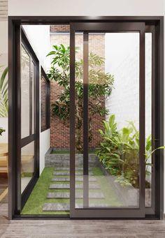 Plan your patio garden with patio garden design ideas Home Room Design, Courtyard House, Courtyard Gardens Design, Balcony Decor, Courtyard Design, Inside Garden, House Exterior, Interior Garden, Patio Interior