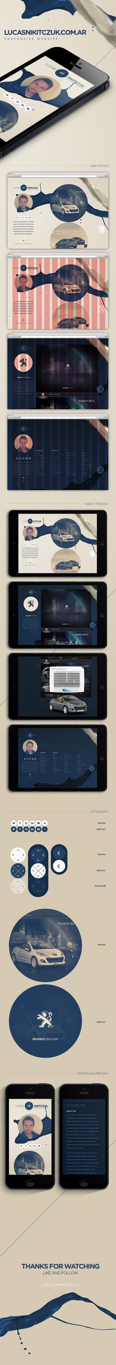 Lucas Nikitczuk | Responsive Website by Lucas Nikitczuk, via Behance