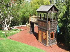 Barbara Butler-Extraordinary Play Structures for Kids-King Fort 2 Swings: King Size Robin Hood 9