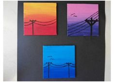 Small Canvas Paintings, Easy Canvas Art, Small Canvas Art, Simple Acrylic Paintings, Mini Canvas Art, Acrylic Painting Canvas, Easy Art, Simple Art, Painting Art