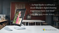 Learn how Surface Studio's digital drawing experience can change the way you create. With Surface Pen and Dial - there are literally no limits to what you can do. Surface Studio, New Surface, Penny Arcade, Microsoft Surface, Creative Studio, Desktop, Gadgets, Laptop, Notebook