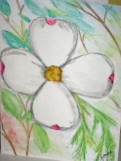 Original Watercolor Mini Painting Greeting Card 5 x 7 by joyceweaver, $6.50