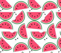 Watermelon fabric by jadegordon on Spoonflower - custom fabric