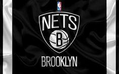 Descargar fondos de pantalla Nets de Brooklyn, club de baloncesto, la NBA, emblema, logotipo, estados UNIDOS, la Asociación Nacional de Baloncesto, bandera de seda, de baloncesto, de Brooklyn, Nueva York, estados UNIDOS de la liga de baloncesto, la División del Atlántico