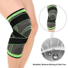 Knee Brace Compression Sleeve With Patella Ilizer Straps