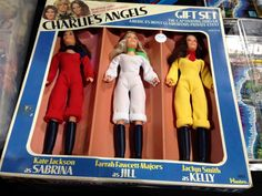 The commercial used to say *SABRINA , KELLY, AND KRIS, IT'S CHARLIE'S ANGELS* ...Never said jack about Jill LOL but here she is in the box how weird I still have mine however not in the box. I remember the jingle song from the commercial  I can hear it clearly and I'm 43 now.